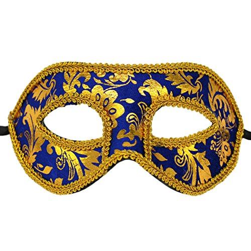 svolle venezianische Augenmaske Masquerade Gold Spitze Halloween Ball Party Kostüm Falsche (Michael Myers Halloween-dekoration)