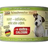 MAC'S Nassfutter FEINSCHMECKER PUPPY GEFLÜGEL, HERZ und LEBER 200g für Hundewelpen