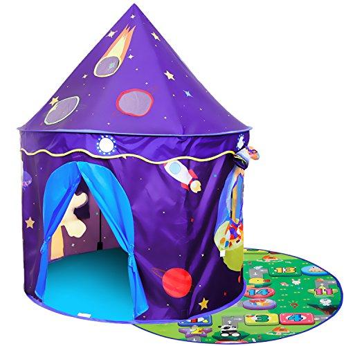 Homfu tenda castello giocattolo per bambini esterno interno casetta per bambini regalo di compleanno per bimbo fantasia tenda giocattolo pop-up