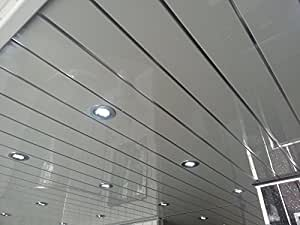 10 Twin Chrome PVC Bathroom Cladding Shower Wall & Ceiling ...
