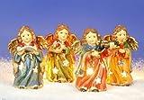 4 GROSSE ENGEL WINDLICHTER PORZELLAN WEIHNACHTEN Grösse ca. 8 x 5,5 x 12 cm (LBH)