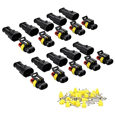 10 Pcs 2 Pin Way Car Electrical Wire Connector