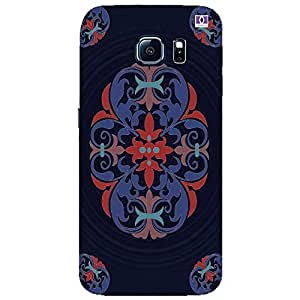 Blue Navy Design - Mobile Back Case Cover For Samsung Galaxy S6