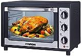 Hyundai HY-203 Mini Backofen | 45 Liter | elektrischer Drehspieß | Temperaturregelung 100-250°C | zuschaltbare Umluft | Innenbeleuchtung | Pizzaofen | Minibackofen | 90 min.Timer | 2000 Watt |