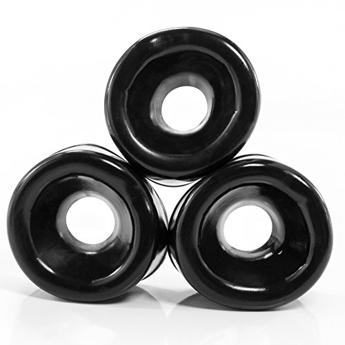 marielove Penispumpen Ø 5-6cm Silikon-Manschetten (3 Stück) Dehnbar - Schwarz