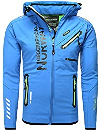 Geographical Norway - Blouson Geographical Norway softshell Blouson homme Richier bleu - Bleu