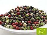 pikantum Bio Bunter Pfeffer | 500g | ganze Körner | mit rosa Schinusbeere | für die Pfeffermühle