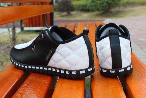 Frühling Herbst Herren Business Casual Schuhe Sportschuhe Fahren Schuhe Weiß Schwarz