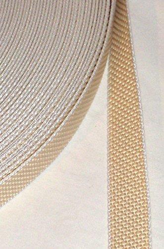 Preisvergleich Produktbild 50 m Rolle stabil Rolladengurt - beige - Breite 23 mm - extra stark - hohe Reißfestigkeit - UV Beständigkeit - Schmutzunempfindlichkeit - beste Scheuerfestigkeit - Perlonkantenschutz