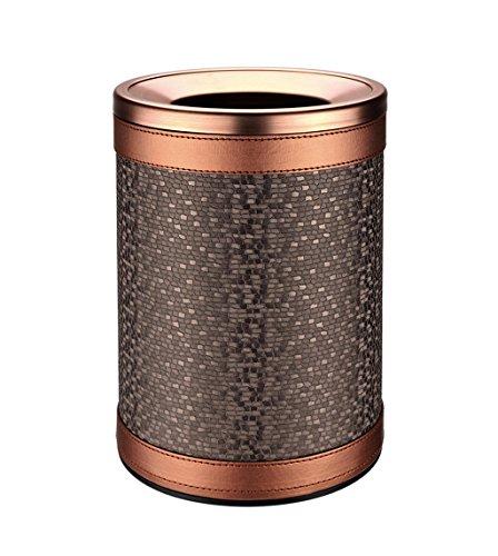 C-J-X TRASH CAN C-J-Xin Wohnzimmer Mülleimer, Pu Doppelschicht Mülleimer Haushalts Metall Mülleimer Schlafzimmer Badezimmer Büro Mülleimer 10L Hohe Kapazität (Farbe : C)