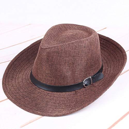 VISER Panama Wide Hat Stilvolle Sonnenhut UV-Schutz Outdoor Eimer Hut für Outdoor Angeln Laufen Camping Radfahren Jagd Golf Wandern Visier Männer Frauen Mädchen Sport Outdoor Visiere (Color : Brown)