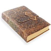 ScrodCat - Cuaderno de notas (A5, piel sintética, tamaño mediano, 20 x 15 cm, ideal para regalo, bolígrafo, bolígrafo de latón, tamaño A5), color marrón