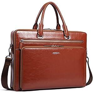 BOSTANTEN Herren Leder Aktentasche Laptoptasche Männer Businesstasche Umhängetasche Schultertaschen