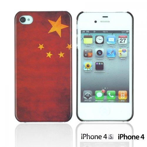OnlineBestDigital - Vintage National Flag Hard Back Case / Housse pour Apple iPhone 4S / Apple iPhone 4 - Italie République populaire de Chine
