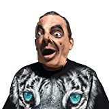 Mister Bean Mr. Rowan Atkinson Mask - Perfecto para Carnaval, Carnaval y Halloween - Disfraz de Adulto - Látex, unisexo Talla Única