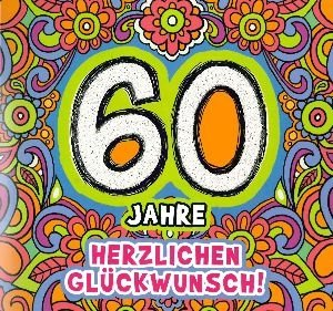 Musikkarte zum 60. Geburtstag