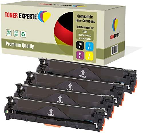 4er Set TONER EXPERTE® Premium Toner kompatibel zu HP 128A CE320A CE321A CE322A CE323A für HP Color Laserjet Pro CP1525n, CP1525nw, CM1415fn, CM1415fnw (Hp Drucker Toner-kassette Mit)