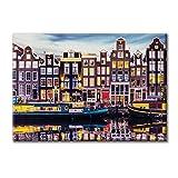 Leinwand-Panel Leinwand Niederlande Amsterdam Mobel 100x70