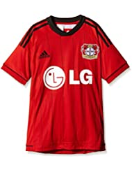 Adidas Heimtrikot Bayer Leverkusen - Camiseta de equipación de fútbol para niño, color rojo / negro, talla 16 años (170 cm)