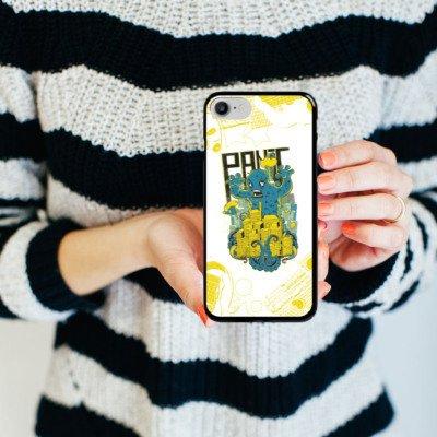 Apple iPhone X Silikon Hülle Case Schutzhülle Monster Stadt Fantasie Hard Case schwarz