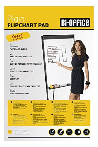 Bi-Office Blocco Per Lavagna Di Carta Euro, Bianca, 20 Fogli Per Blocco, Lato Superiore Perforato, 60 g/mq, Conf. da 5