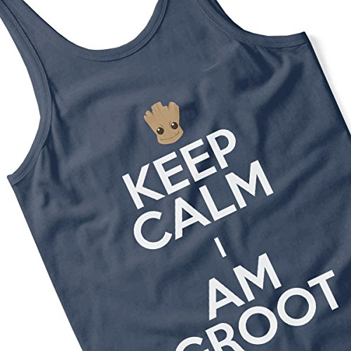 Keep Calm and I Am Groot Men's Vest Navy Blue
