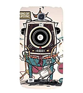 Printvisa Vintage Multiple Gadgets Pic Back Case Cover for Samsung Galaxy S4 Mini::Samsung Galaxy S4 Mini i9190