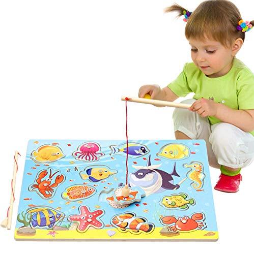 OOFAY Lernspielzeug für Kinder, Kinder Angeln Spiel, Magnetisches Angelspielzeug, Lernspielzeug für Kinder ab 36 Monaten