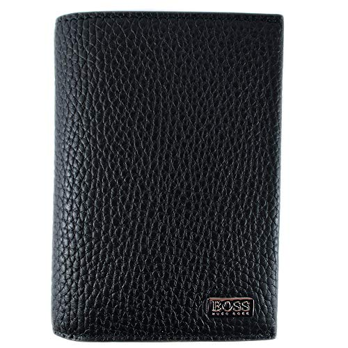 BOSS Herren Crosstown_8 Cc Flap Geldbörse Schwarz (Black) (Boss Geldbörse Für Männer)