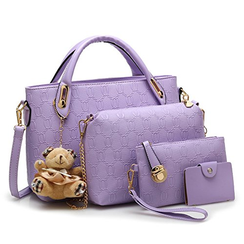 Anne, Borsa a spalla donna nero White Purple