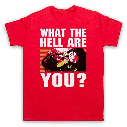 Inspiriert durch Predator Face What The Hell Are You Unofficial Herren T-Shirt Rot