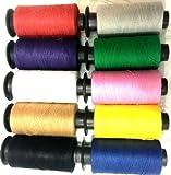 T & S Set mit 10Spulen Baumwoll-Nähgarn, verschiedenen Farben.