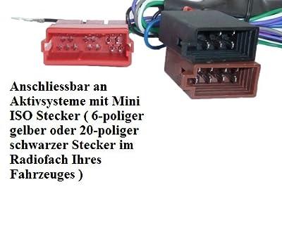 Auto Radio ACTIVE Adaptateur système pour Audi A2 A3 A4 A4 B5 B5 A6 A6 TT Bose DSP Câble DSP ISO par Adapter-Universe