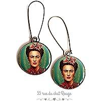 Orecchini Frida cabochon Kahlo,