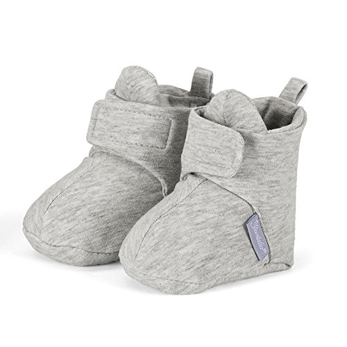 Sterntaler Unisex Baby Krabbel- und Hausschuh mit Klettverschluss, Alter: 12-18 Monate, Größe: 20, Farbe: Grau (Silber), Art.-Nr.: 5101600 -