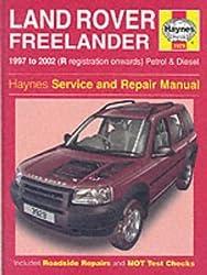 Land Rover Freelander Service and Repair Manual (Haynes Service and Repair Manuals) by Martynn Randall (2002-09-27)