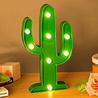ZeWoo Lámparas decorativas, Decoración Iluminación Lámpara de mesa de luz LED Iluminación de Navidad Decoración de fiesta Lámpara de la habitación de los niños (Cactus Light)
