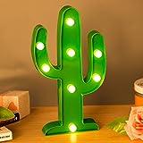 ZeWoo Kaktus LED Nacht Licht Nacht batteriebetriebene Tisch Lampe Laufschrift LED Nachtlicht Home Dekorationen