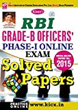 Kiran's RBI Grade - B Officers Phase - I Online Exam Solved Papers - English - 1708