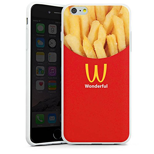 Apple iPhone X Silikon Hülle Case Schutzhülle Pommes Fast Food Frenchfries Silikon Case weiß