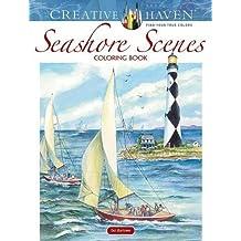 Creative Haven Seashore Scenes Coloring Book (Adult Coloring)