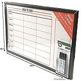 Organizador semanal de planificador Memo Dry Wipe tablón de aviso, tabla de hora, marcador borrable