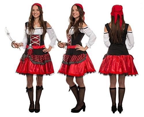 funzionario di vendita caldo guarda bene le scarpe in vendita estetica di lusso Brandsseller costume da pirata da donna - include vestito e ...