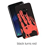 BIEE Hülle Case,Magic Heat-Sensitive Case Color Changing Thermal Sensor Heat Thermal Induction Ultra Slim Anti-Scratch Shockproof Hard Cover Case -Samsung Galaxy S7 Rand (5.5) - Schwarz zu Rot