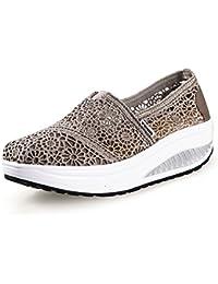 Zapatos Deporte Mujer Zapatillas Deportivas Moda Sandalias de Verano Mocasines de Plataforma Casuales Zapatillas de Lona