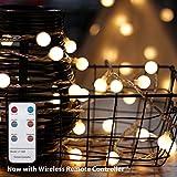myCozyLite - Catena di luci LED con timer, mappamondo impermeabile, spina e scatola, decorazione per albero di Natale Led Globe Light Pack mit Fernbedienung