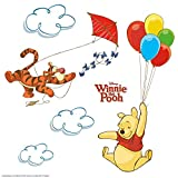 Komar - Disney - Window-Sticker WINNIE POOH - 31 x 31 cm - Fensterdeko, Fenstersticker, Winnie Puh, Ferkel, Tiger -16403