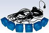 Pavilux LED-Plastersteinleuchten, 6er Pack, kobalt blau leuchtende Lichtsteine, Leuchtstein.