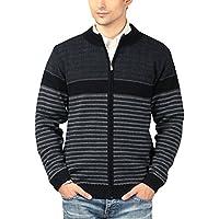 aarbee Men's Wool Sweater(Hw90406 _ X-Large_Black_X-Large)