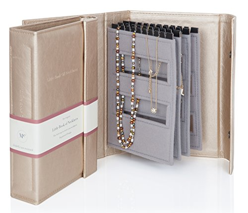 GOLD - Little Book of NECKLACES - A Book for Keeping Your Necklaces Tangle-free and Safe! by Book of Necklaces -